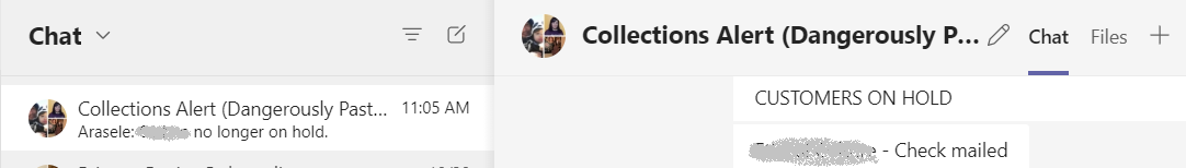 Collections Chat