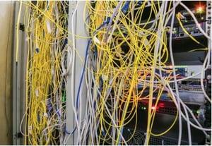 Poorly Organized Network Closet